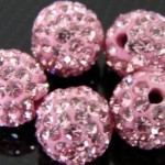 roze strass balletjes