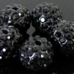 zwart strass balletjes