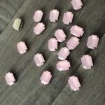 roze matte steentjes