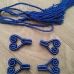 kobaltblauw riemhaakjes