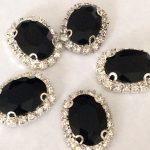 Luxe strass steentjes zwart
