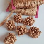 Le3kaad/ Marokkaanse knoopjes zijde goud (geen skali)