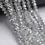 Glaskralen zilver 3 mm- 4 mm- 6 mm (keuze)