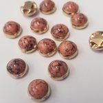 Zalmroze-goud marmer opnaaisteentjes