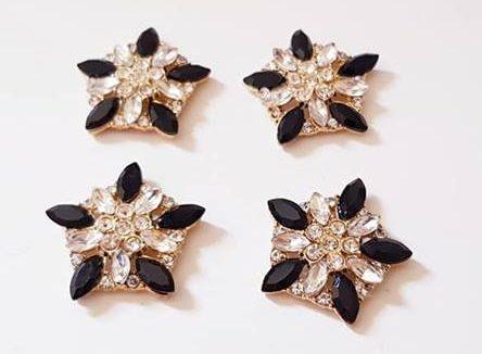 Zwart-gouden strass stenen luxe