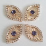 strass steentjes lila-goud