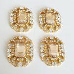 luxe stenen goud vierkant
