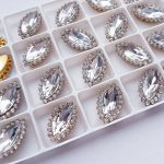 Strass steen crystal goud